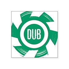 Dub Green - Square Sticker
