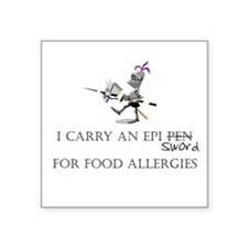 Epi Pen Knight Square Sticker