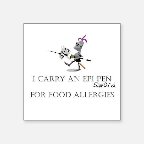 Epi Pen Knight Square Sticker
