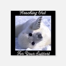 Reaching Out Square Sticker