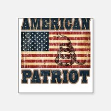 American Patriot Square Sticker