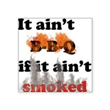 Bbq-smoked Square Sticker