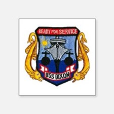 USS DIXON Square Sticker