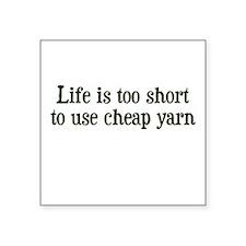 Cheap Yarn Square Sticker