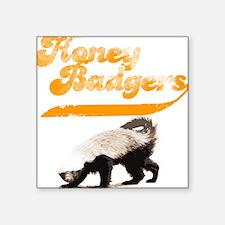 TEAM Honey Badger Vintage Square Sticker