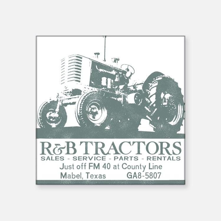 R and B Tractor Square Sticker