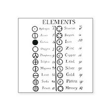 Dalton's Elements Square Sticker