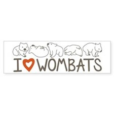 I Heart Wombats Bumper Bumper Sticker