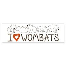 I Heart Wombats Bumper Sticker