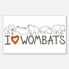 I Heart Wombats Decal
