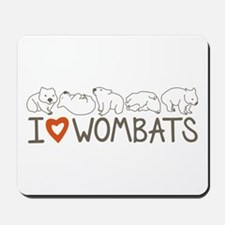 I Heart Wombats Mousepad