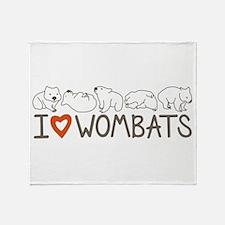 I Heart Wombats Throw Blanket