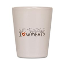 I Heart Wombats Shot Glass