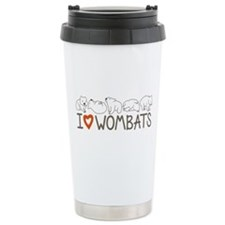 I Heart Wombats Travel Mug