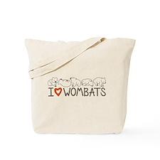 I Heart Wombats Tote Bag