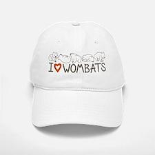 I Heart Wombats Baseball Baseball Cap