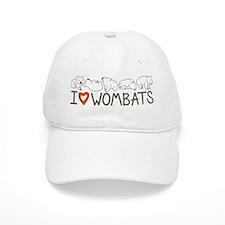 I Heart Wombats Baseball Cap