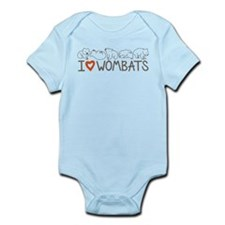 I Heart Wombats Infant Bodysuit