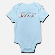 I Heart Wombats Infant Bodysuit