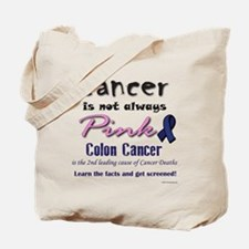 Colon Cancer - Also not pink! Tote Bag