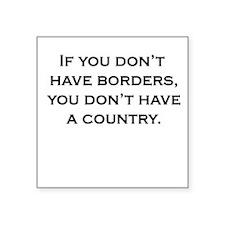 Women's Borders Square Sticker