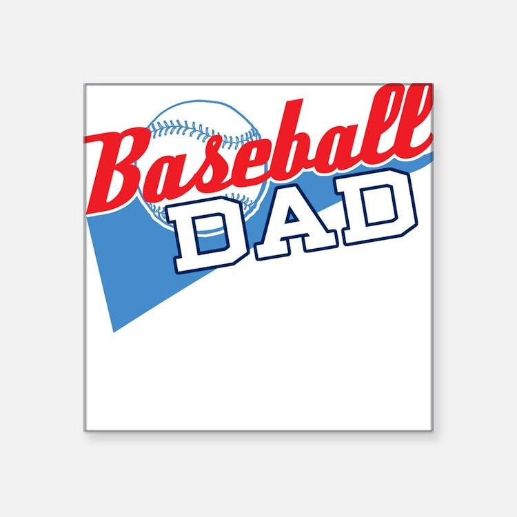 Baseball Dad Square Sticker
