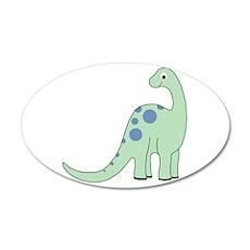 Happy Baby Dinosaur 22x14 Oval Wall Peel