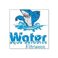 Tommy Mac Fitness Aqua Aerobi Square Sticker