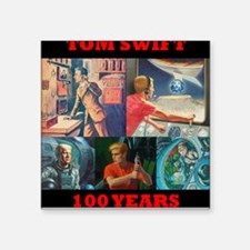 100 Years of Tom Swift Square Sticker