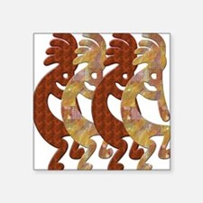KOKOPELLI ROCK ART Square Sticker