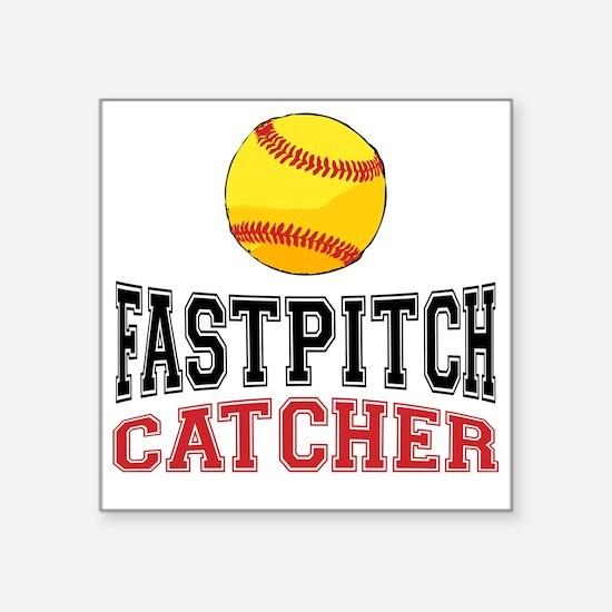 Fastpitch Catcher Square Sticker