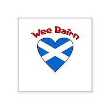 Wee Bairn Heart Square Sticker