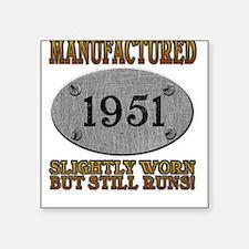 Manufactured 1951 Square Sticker