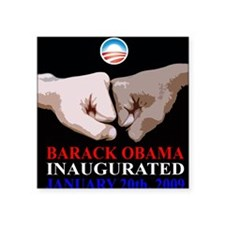 Inaugurational Fistbump Square Sticker