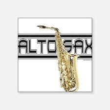 Alto Sax Square Sticker