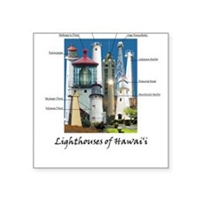 Lighthouses of Hawaii Square Sticker