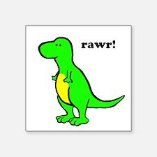 Cute Dinosaur Square Sticker