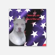 American Sweetheart Square Sticker