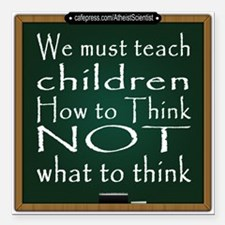 "Teach Children How Square Car Magnet 3"" x 3"""