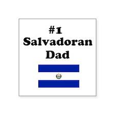 #1 Salvadoran Dad Square Sticker
