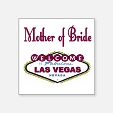 Raspberry LV Mother of Bride Square Sticker