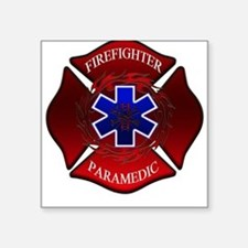 FIREFIGHTER-PARAMEDIC Square Sticker