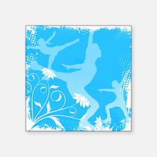 Floral Figure Skater Square Sticker