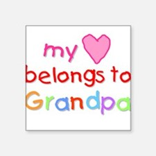 My Heart Belongs to Grandpa (A) Square Sticker