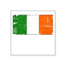 Vintage Irish Flag Square Sticker
