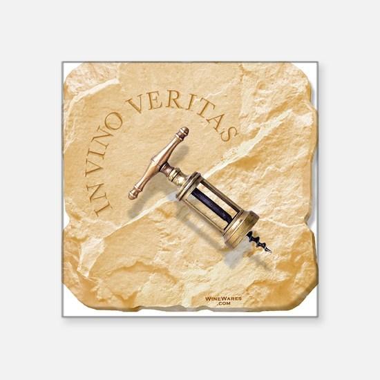 IN VINO VERITAS wine Square Sticker, white