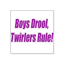BOYS DROOL Square Sticker