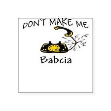 Call Babcia Black Phone Square Sticker
