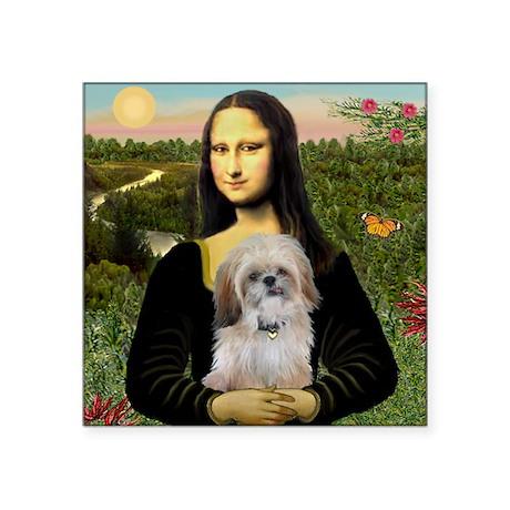 Mona Lisa (new) & Shih Tzu Square Sticker