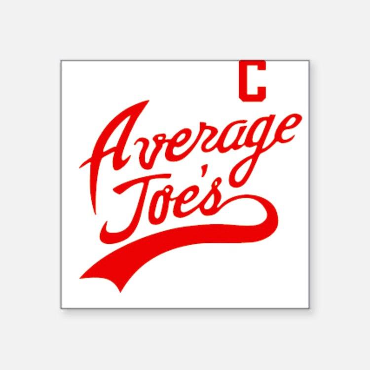 Average Joes Square Sticker